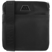 Armani Exchange Logo Messenger Bag Black