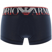 Emporio Armani Underwear Stretch Trunks Navy