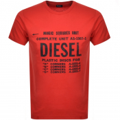 Diesel T Diego Short Sleeved T Shirt Red