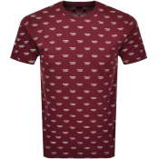 Product Image for Diesel Jake Short Sleeved T Shirt Burgundy