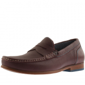 Ted Baker Xaponl Leather Shoes Burgundy