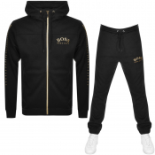 BOSS Athleisure Hooded Tracksuit Black