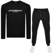 Product Image for Emporio Armani Crew Neck Tracksuit Black