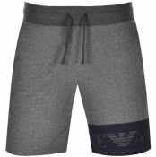 Emporio Armani Lounge Logo Sweat Shorts Grey