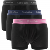 Calvin Klein Underwear 3 Pack Trunks Black