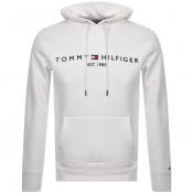 Product Image for Tommy Hilfiger Logo Hoodie White