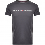 Tommy Hilfiger Lounge Flag Logo T Shirt Grey