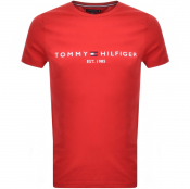 Tommy Hilfiger Logo T Shirt Red