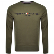 Product Image for Tommy Hilfiger Logo Sweatshirt Green