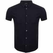 Emporio Armani Short Sleeved Slim Fit Shirt Navy