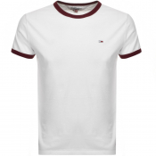 Product Image for Tommy Jeans Ringer T Shirt White