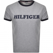Tommy Hilfiger Lounge Logo T Shirt Grey