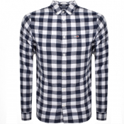 Tommy Jeans Long Sleeved Check Shirt White