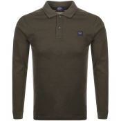 Paul And Shark Long Sleeved Polo T Shirt Green