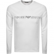 Emporio Armani Lounge Long Sleeved T Shirt White