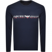 Emporio Armani Long Sleeved T Shirt Navy