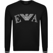 Product Image for Emporio Armani Lounge Logo Sweatshirt Black