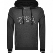 Product Image for Emporio Armani Lounge Pullover Logo Hoodie Grey
