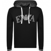 Product Image for Emporio Armani Lounge Pullover Logo Hoodie Black