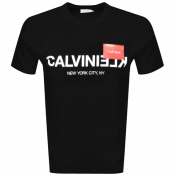 Product Image for Calvin Klein Reverse Logo T Shirt Black
