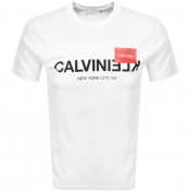 Product Image for Calvin Klein Reverse Logo T Shirt White