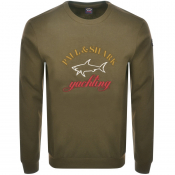 Product Image for Paul And Shark Crew Neck Logo Sweatshirt Khaki