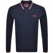 Product Image for HUGO Donol194 Long Sleeved Polo T Shirt Navy