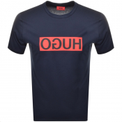 Product Image for HUGO Dicagolino 194 T Shirt Navy