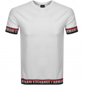 Product Image for Armani Exchange Crew Neck Logo T Shirt White
