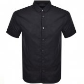 Armani Exchange Short Sleeved Shirt Navy