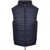 Armani Exchange Full Zip Quilted Gilet Navy