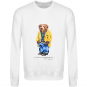 Product Image for Ralph Lauren Crew Neck Bear Sweatshirt White