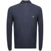 Product Image for Lyle And Scott Half Zip Knit Jumper Navy