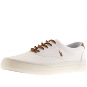 Ralph Lauren Thorton Canvas Trainers White
