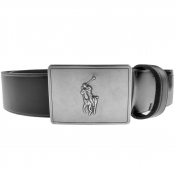 Ralph Lauren Plaque Casual Belt Black