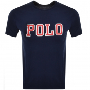 Ralph Lauren  Crew Neck Logo T Shirt Navy