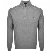 Product Image for Ralph Lauren Half Zip Knit Jumper Grey