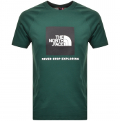 The North Face Raglan Redbox T Shirt Green