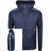 Pretty Green Harrington Hooded Jacket Navy