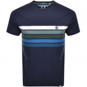 Pretty Green Gordon Chest Logo T Shirt Navy