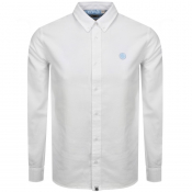 Pretty Green Long Sleeved Oxford Shirt White