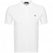 Fred Perry Slim Fit Polo T Shirt White