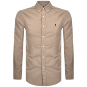 Ralph Lauren Slim Fit Oxford Shirt Beige