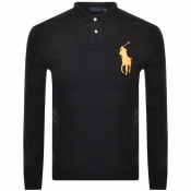 Ralph Lauren Long Sleeved Polo T Shirt Black
