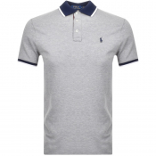Product Image for Ralph Lauren Custon Fit Polo T Shirt Grey