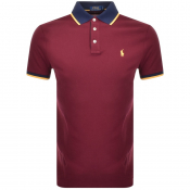 Ralph Lauren Custon Fit Polo T Shirt Burgundy