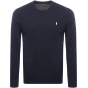 Product Image for Ralph Lauren Long Sleeved Crew Neck T Shirt Navy