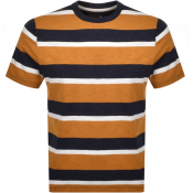 Farah Vintage Celtic Stripe T Shirt Gold