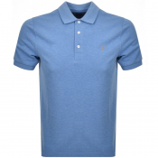 Farah Vintage Short Sleeved Polo T Shirt Blue