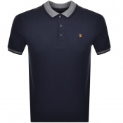 Farah Vintage Short Sleeved Polo T Shirt Navy